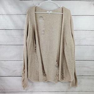 BP Distressed Knit Oversize Cardigan
